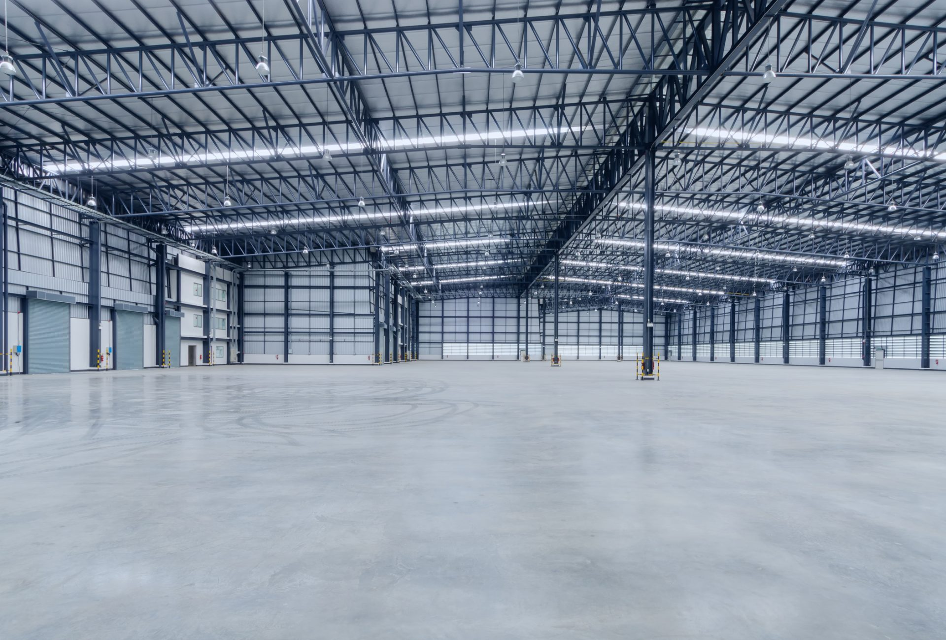 Interior of empty warehouse