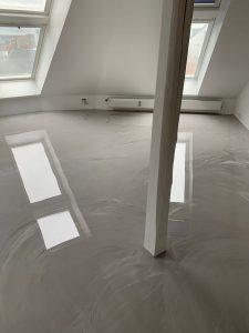 Polyurethan gulv på loft