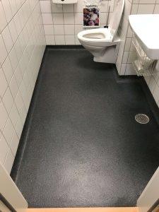 Epoxygulv på wc